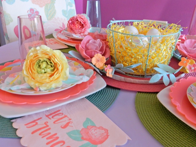 Ideas for decorating dining room table for Easter brunch