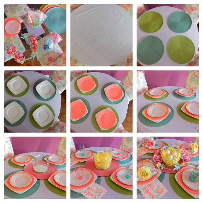 Sarah In Style, Dining Decor, Tablescapes, Tablescape, Spring Table, Easter Table, Easter Brunch Ideas, Spring Decorating, Sarah Meyer, Target Home, Cheap Holiday Decorating, Let's Brunch, Easy Table Decorating, Table Setting Tips