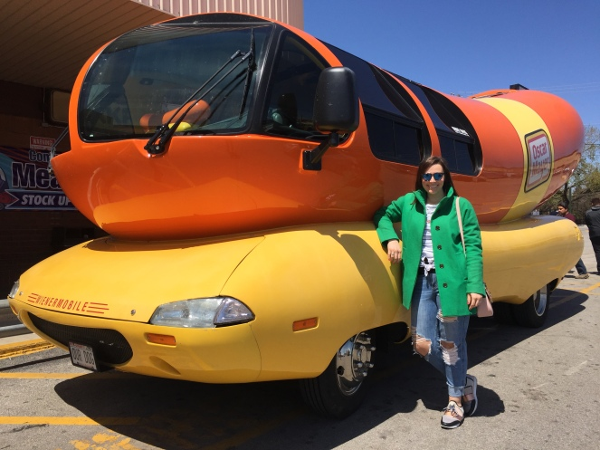 Oscar Mayer, Wienermobile, Wienermobil, Wienie Whistle, I wish I were an Oscar Mayer Wiener, WeenieMobile, Weenie Whistle, Wiener Mobile, Sarah In Style, Hotdoggers, Cool internships, jobs that include travel, giant hot dog, unique jobs, history of Oscar Mayer