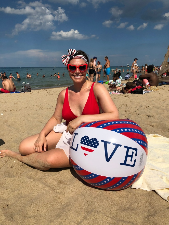 Labor Day, Beach Picnic, Red White and Blue, Labor Day Cookout, SArah In Style, Sarah Meyer
