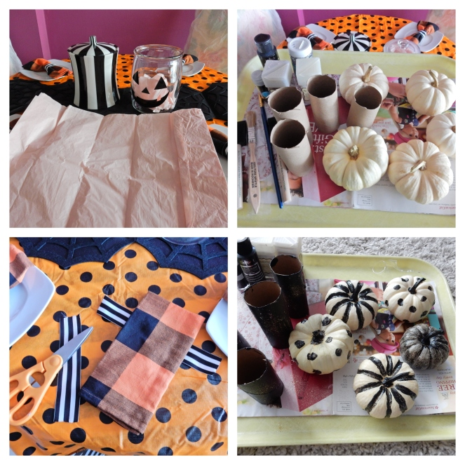 Halloween Party, Halloween Crafts, Halloween Decorations, Halloween Table, Dining Decor, Tablescape, Tablescapes, Sarah In Style, Sarah Meyer, Black and White Table, Black and White Halloween, Halloween Party ideas, Cute table decor, decorating on the cheap, Blogger design ideas, blogger party ideas, Halloween parties